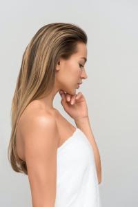 Woman side view