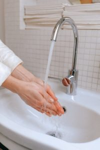 Hand washing image for the waxing co