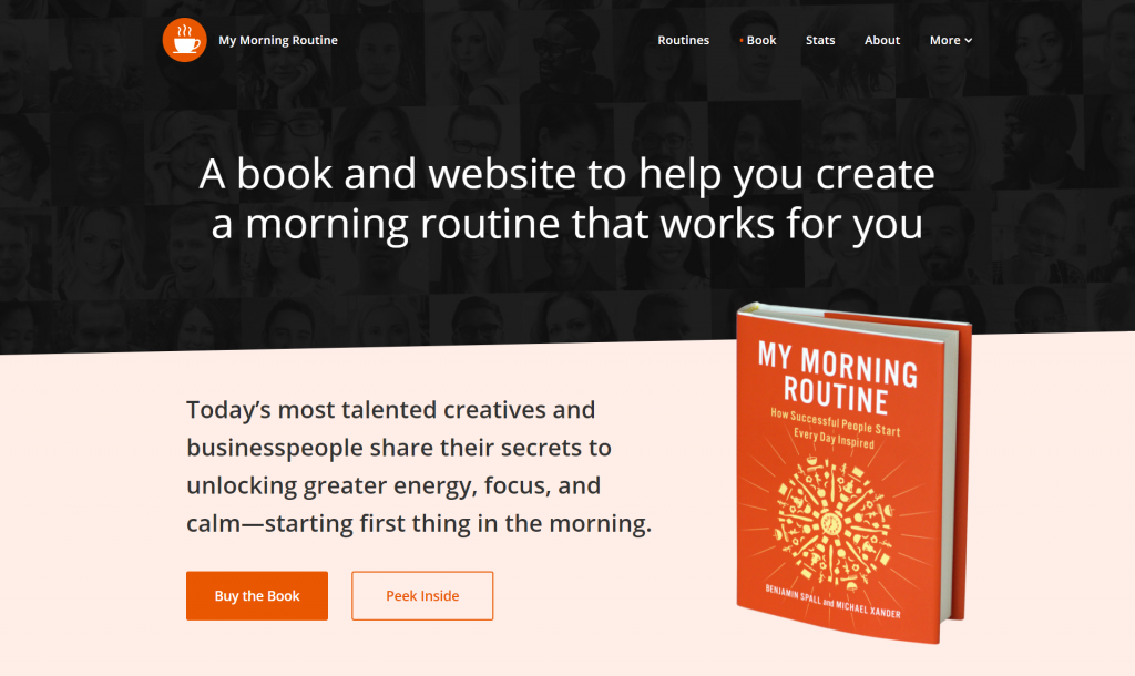 my morning routine website